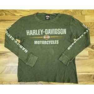 Harley Davidson Waffle Knit Long sleeve Shirt. WOW